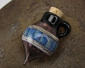 ON SALE Handmade Lampwork Glass Vessel Focal by Jason Powers SRA