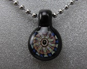 Handmade Lampwork Glass Focal Mini Pendant by Jason Powers SRA