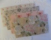 Decorative Mini Envelopes Floral Patterned Set of 4