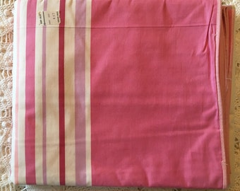 New Vintage Duvet Cover - Cotton Comforter and Blanket Cover  - New Twin Full - Pink and Mulit- Stripe Unused NIP NOS