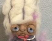 Sugar plum Fairy  ooak art doll hand needle felted