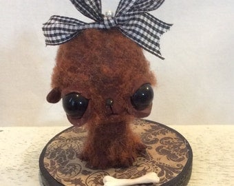 the Brown dog Ooak art doll