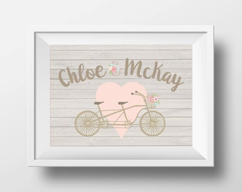 Bicycle Love Custom Printable