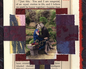 Reasonable Courtship Love Collage Card Engagement Wedding Anniversary