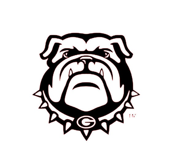 georgia bulldogs mascot decal