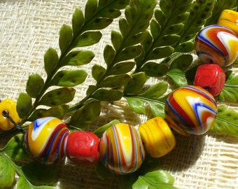 Handmade Lampwork Glass Beads by Catalinaglass SRA  Primary MArbles