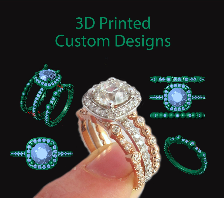 3D Printed Custom Designs Your Own Custom Ring CAD 3D Print