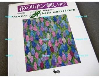 Japanese Craft Pattern Book Ribbon Embroidery Stitching Flowers Ondori