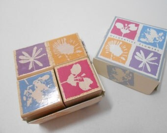 Hero Arts 2003 Quatro Rubber Stamp Set, Hero Arts Flower Blocks