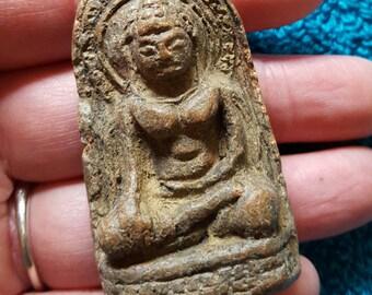 32x56mm Clay Thai Buddha Amulet