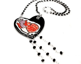 Goth Heart Surly Necklace