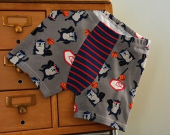 Slam Dunk - Beavers Playing Basketball children's boxer briefs -  made to order (with or without stripes)
