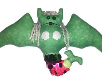 Green Mermaid Bat Pillow
