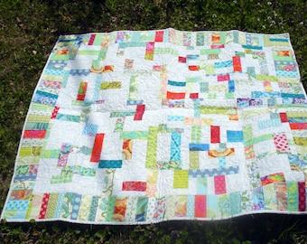 Modern Baby Quilt, Contemporary Baby Quilt, Gender Neutral Baby Quilt