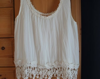 Beautiful Vintage Cream Camisole with Lace