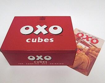 Vintage OXO Tin Box 1950s