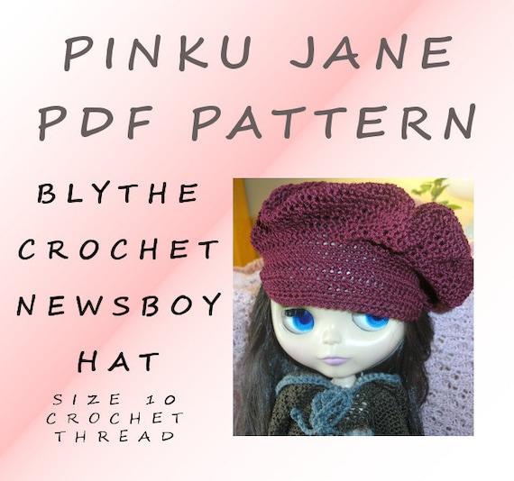 Crochet Hat Pattern For Blythe : PDF Blythe Crochet Newsboy Hat Pattern Downloadable by ...