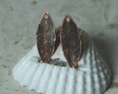 Hand hammered antique copper marquise drop dangle connector charm size 20x8mm, 4 pcs (item ID YWXW01274ACD)