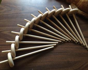 Ten pack wooden drop spindles