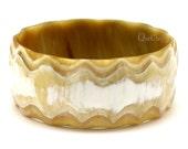 Horn Bangle Bracelet - Q12380