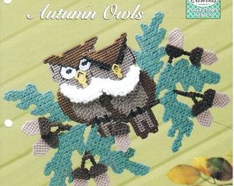 Autumn Owls ~ plastic canvas pattern ~ Needlecraft Shop