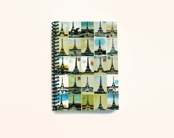 Eiffel Tower, Blank Sketchbook, Writing Journal, Pocket Notebook, Paris Postcards, Gifts Under 15, Travel Journal, Diary Journal
