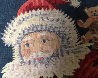 VINTAGE Santa Tapestry Panel