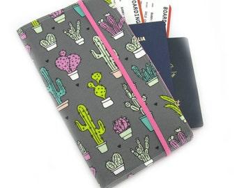 Travel Organizer Wallet - Passport Holder - Family Travel Wallet - Travel Organizer - Passport wallet - Travel Document Holder - Cactus