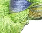 LONELY Skein 'sale' LAVENDER in Hand Dyed Poet Seat Fingering Weight Superwash Merino and Silk Yarn