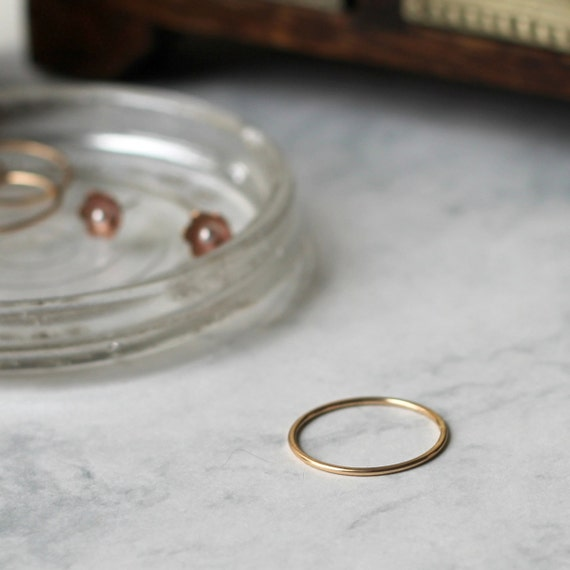 Skinny Stacking Ring - Gold Fill