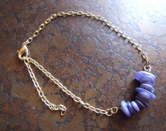 Violet Glass Serenity Chain bracelet