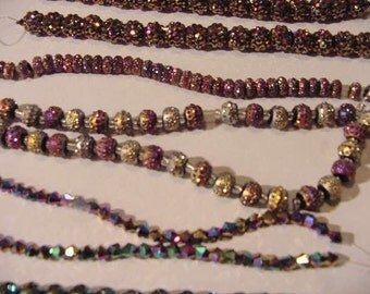 SALE Lot of Beads JS#252 Necklace Bracelet Earring Jewelry Supply multi colors sizes jeweler's destash resin glass