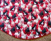 Reserved order for Sarah Scott - Charge for the Embroidery on the French Bulldog Christmas Tree Skirt
