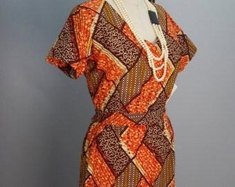 Fall sale 1980s jumpsuit 80s cotton pantsuit Vintage jumpsuit 80s one piece batik print jumpsuit