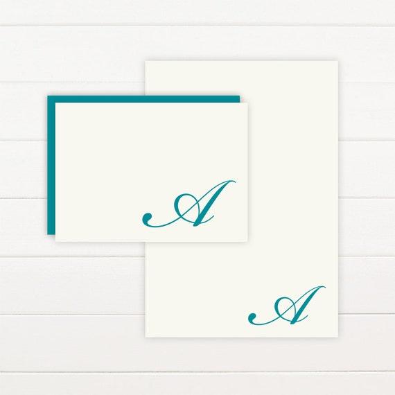FLOURISH Personalized Stationery + Notepad Set - Personalized Notepad and Personalized Stationary