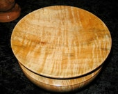 Tiger Maple, music wood lidded bowl