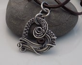 Oxidized Sterling Silver Garnet Heart Wire Wrapped Pendant Natural Garnet Round Bead Wire Wrapped Jewelry Handmade