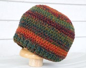 Multicolor Fall Colors 6-12 Month Winter Baby Beanie