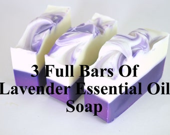 Lavender Soap -  Lavender Soap Set - Handmade - Bath And Beauty Set - 3 Soaps - Aromatherapy - Mothers Day Gift - Gift For Mom