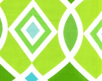 "Free Spirit Diamond green/blue 1/3 yard 13""x41"" PREWASHED"