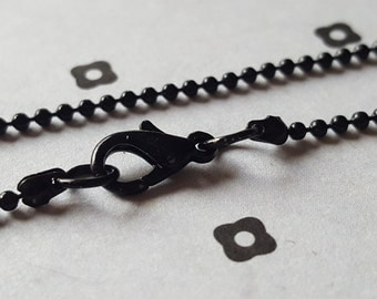 20'' Black Chain with lobster clasp