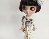 OOAK Mori-inspired Kimono Set for Blythe