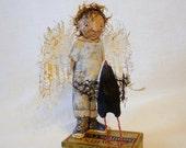 Swift's Angel - Original Wood Carving - USA