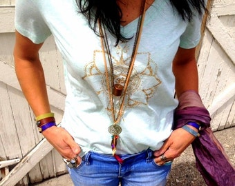 Leather Cuff with Gold Bird