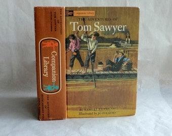 TOM SAWYER Hollow Book Keepsake Box Vintage Book Cover Clemens Fake Book Secret Secret Stash Box Hidden Compartment Groomsman Wedding Wood