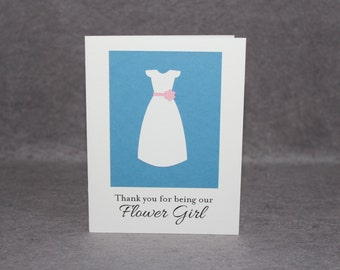 Flower Girl Thank You Card, Thank You for being our Flower Girl Card, PS2