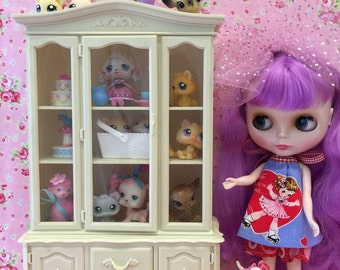 RESERVED...Vintage Doll House Hutch..Kitchen..Dinning Cabinet..Perfect for Blythe and all her Toys+Collectibles