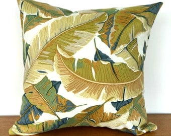 Tropical Leaves Outdoor Cushion - Green