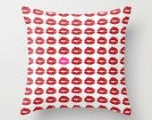Kiss Print Pillow