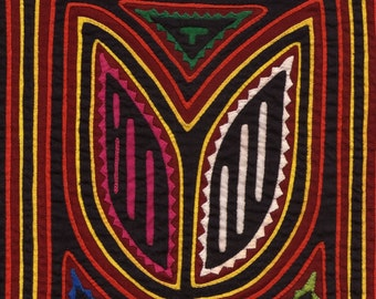 Mola Half, Perfect For a Sewing Project  - Kuna Indian Handmade Indigenous Textile Art